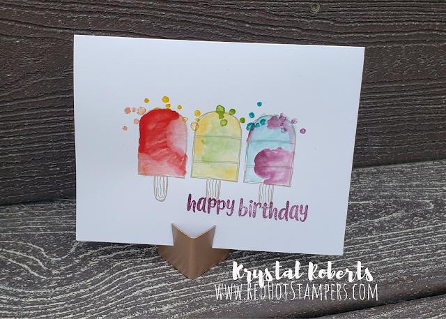 Splatter Popsicle Card Stampin' Up!
