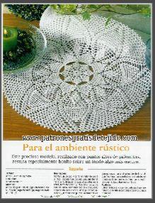 tapete redondo crochet