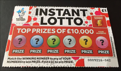 £1 Instant Lotto Scratch Card