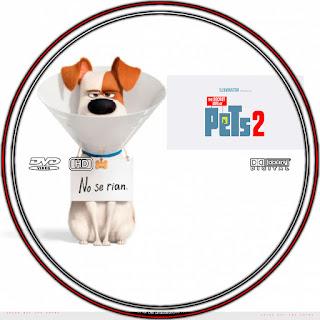 GALLETA LABEL LA VIDA SERCRETA DE TUS MASCOTAS 2-THE SECRET LIFE OF PETS 2 2019 [COVER DVD]