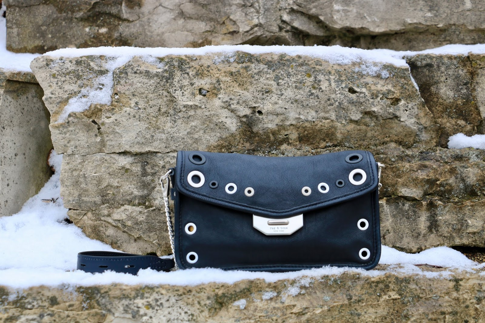 Nyc fashion blogger Kathleen Harper's rag and bone leather crossbody