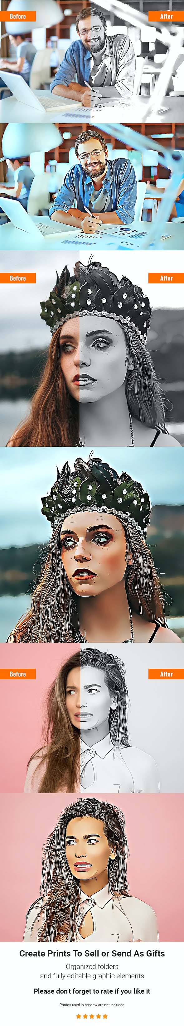 Charcoal Sketcher Mode Photoshop Action