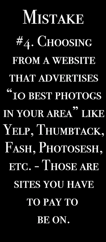 Mistake #4 using yelp, fash, thumbtack, or photosesh