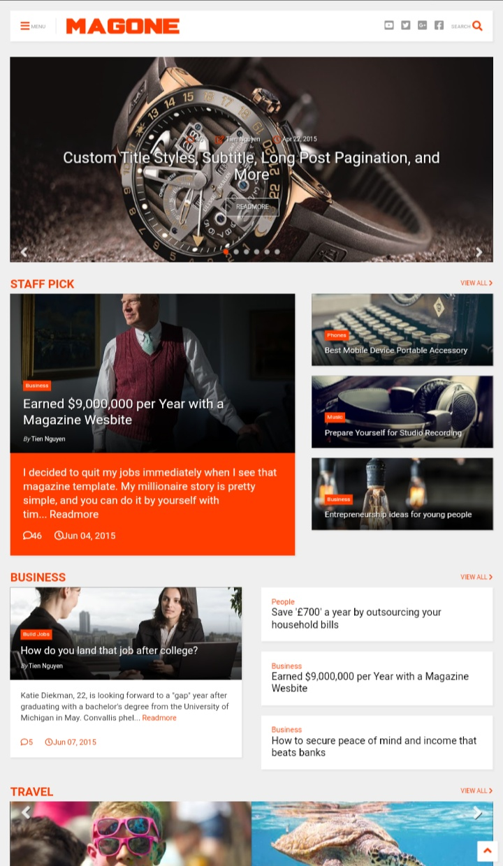 Magone Blogger theme Download