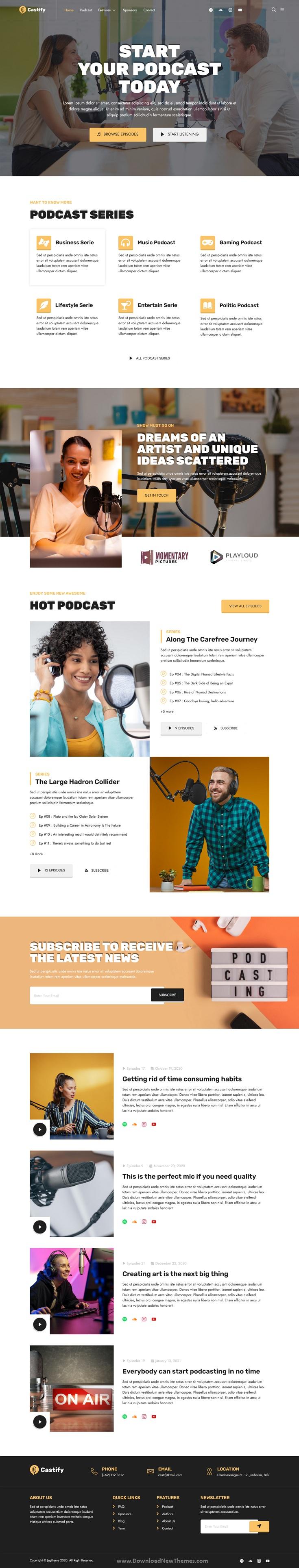 Audio Podcast Elementor Template Kit