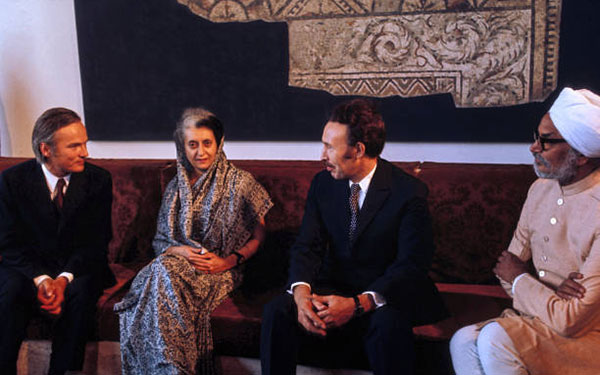 Boumediene, Indira Gandhi