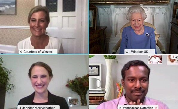 On the occasion of the World Sight Day 2020, Queen Elizabeth joined The Countess of Wessex for a video call with eye health professionals