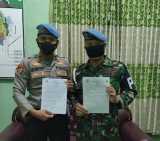 Kasi Propam Polres Labuhanbatu Silaturahmi ke Kantor SUBDENPOM 1/1-2 Rantauprapat