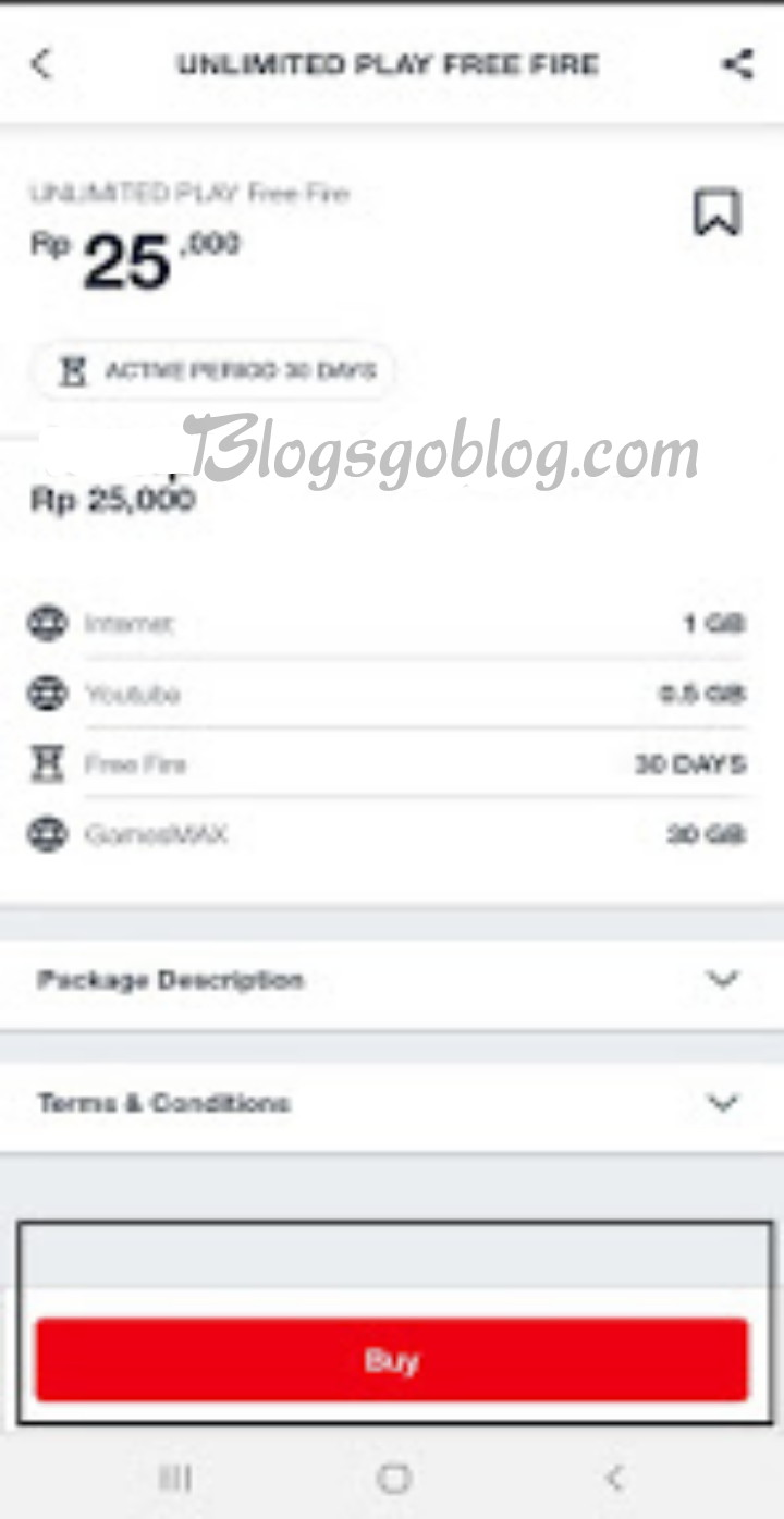Beli GamesMAX Unlimited Play 30GB Di My telkomsel Terbaru