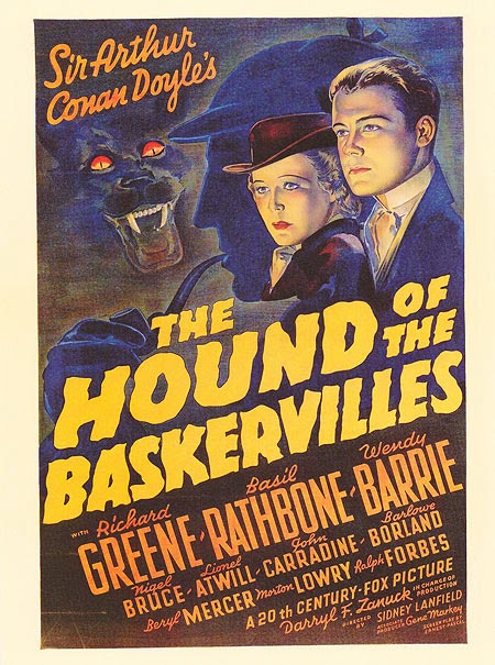 Poster, 1939 Hound of the Baskervilles