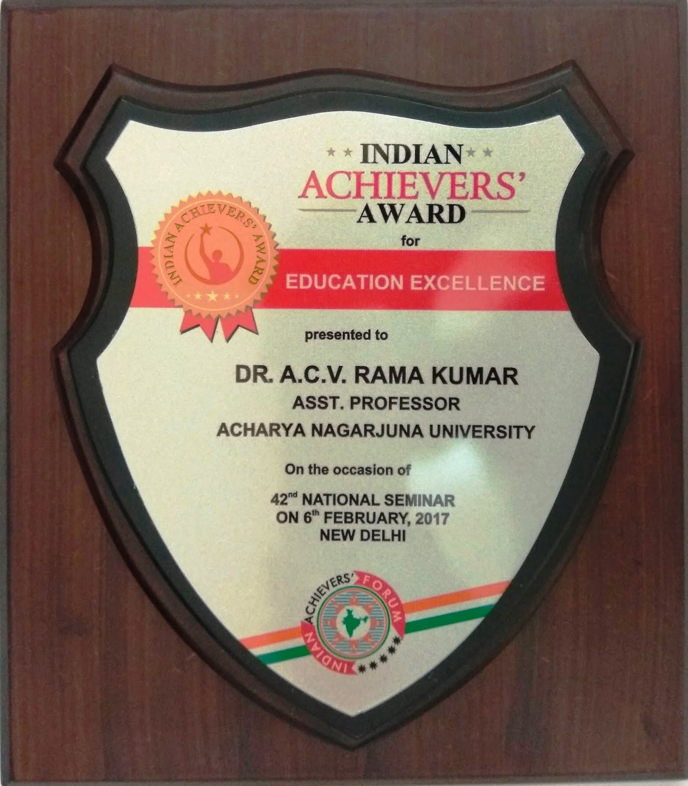 INDIAN ACHIEVERS' AWARD