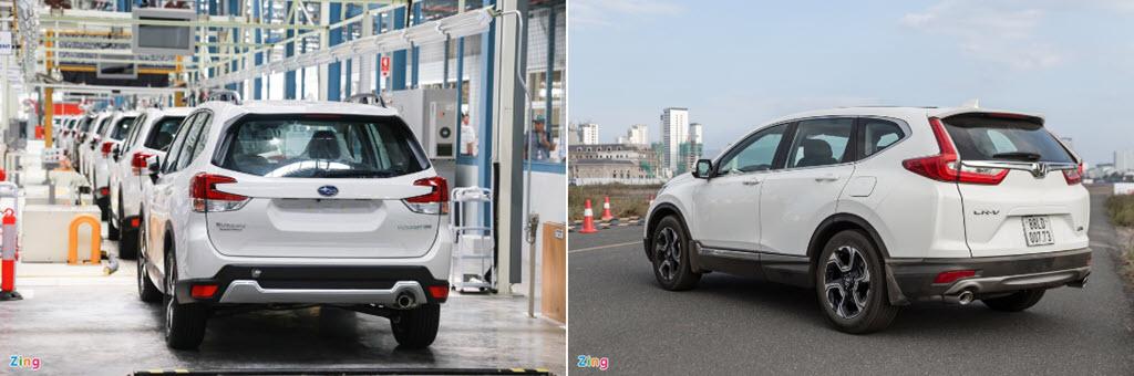 Subaru Forester và Honda CR-V - chọn trải nghiệm lái hay sự thực dụng?