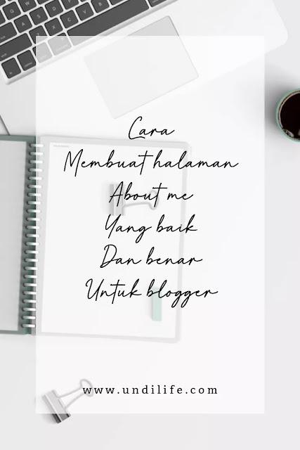 Cara buat halaman about me di blog