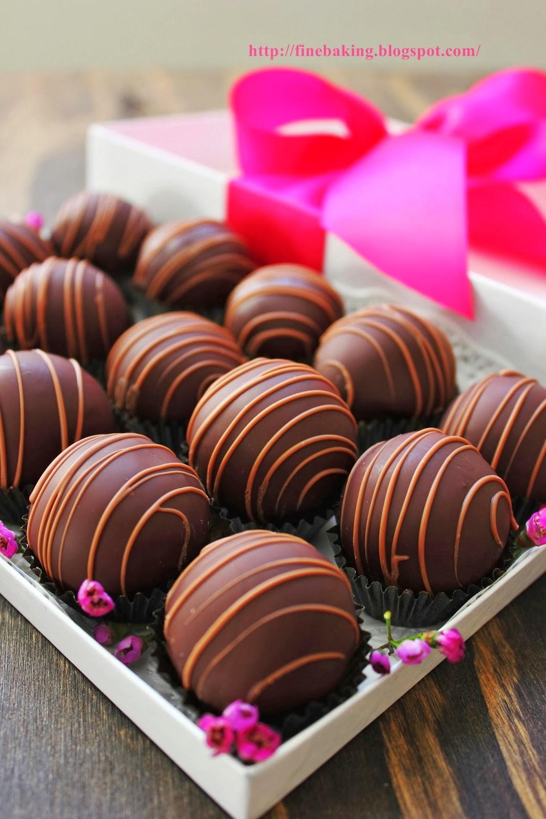 Chocolate Dust Raspberry Truffles