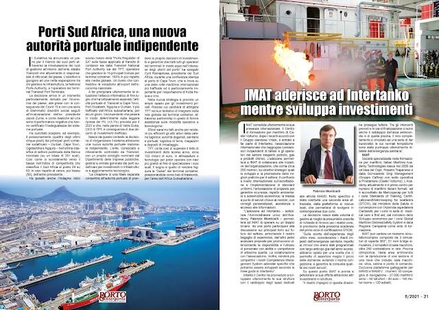AGOSTO 2021 PAG. 20 - Porti Sud Africa, una nuova autorità portuale indipendente