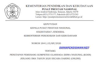 DAFTAR PEMENANG KOSN JENJANG SMA 2020. pdf