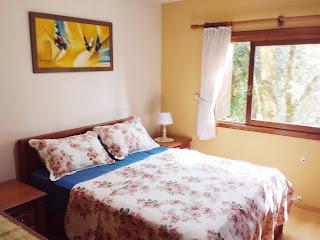 Dormitório apartamento temporada Gramado RS