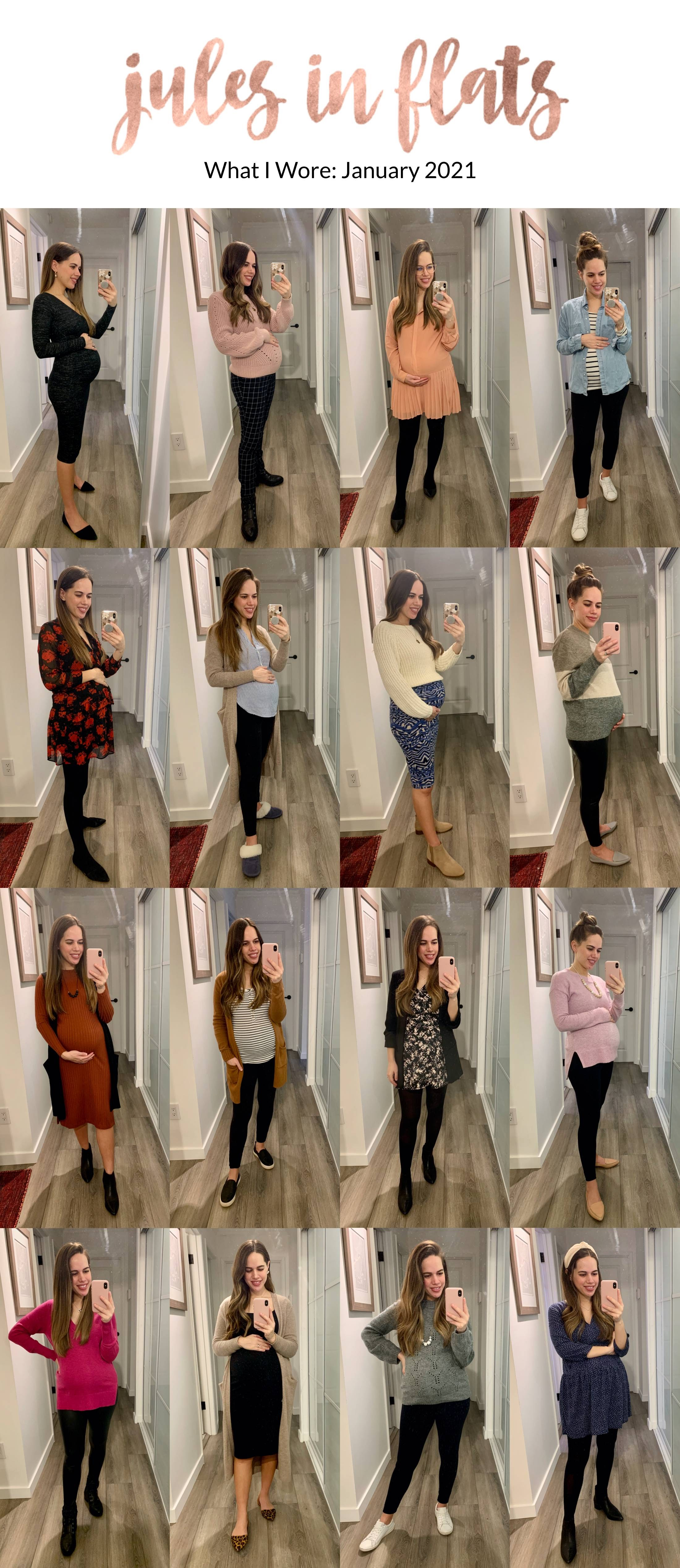 Jules in Flats - Monthly Outfit Roundup January 2021