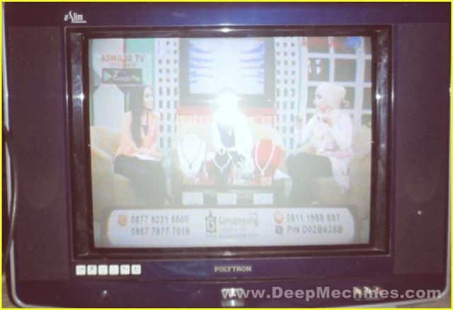 TV Polytron (U-Slim - Multimedia) 21-Inc, Model: PS 52UM29P - Tampak Depan