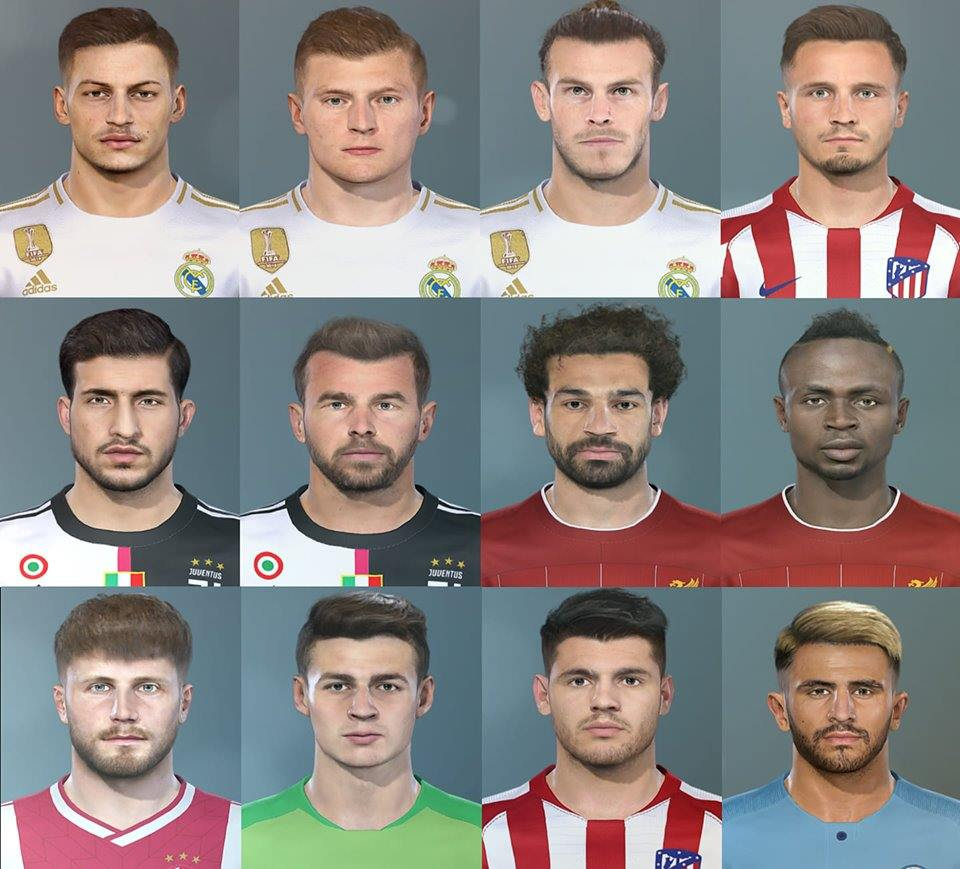 PES 2019 Facepack #1 by Ahmed El Shenawy