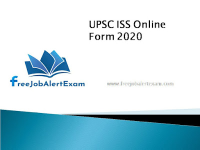UPSC ISS Online Form 2020