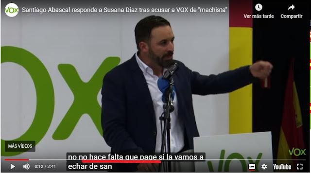 video de Vox con el texto no page en ves de no hace falta que la piteis