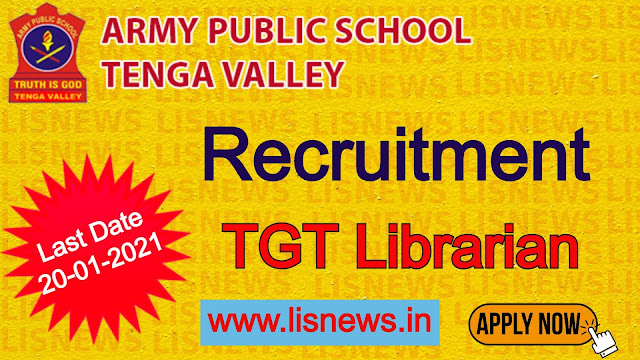 TGT Librarian at Army Public School, West Kameng