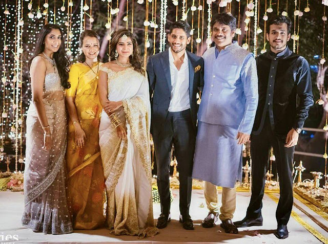 Check out the photos of Nagachaitanya-Samantha Engagement photos which was held in Hyderabad N convention center Madhapur Which was owned by Nagarjuna Akkineni and akkineni family .This Engagement was done in two Traditions one is in Hindu and other is in Christian methods . Total Akkineni family graced this event along with them top tollywood celebrities attended this function .Staytuned for more photos