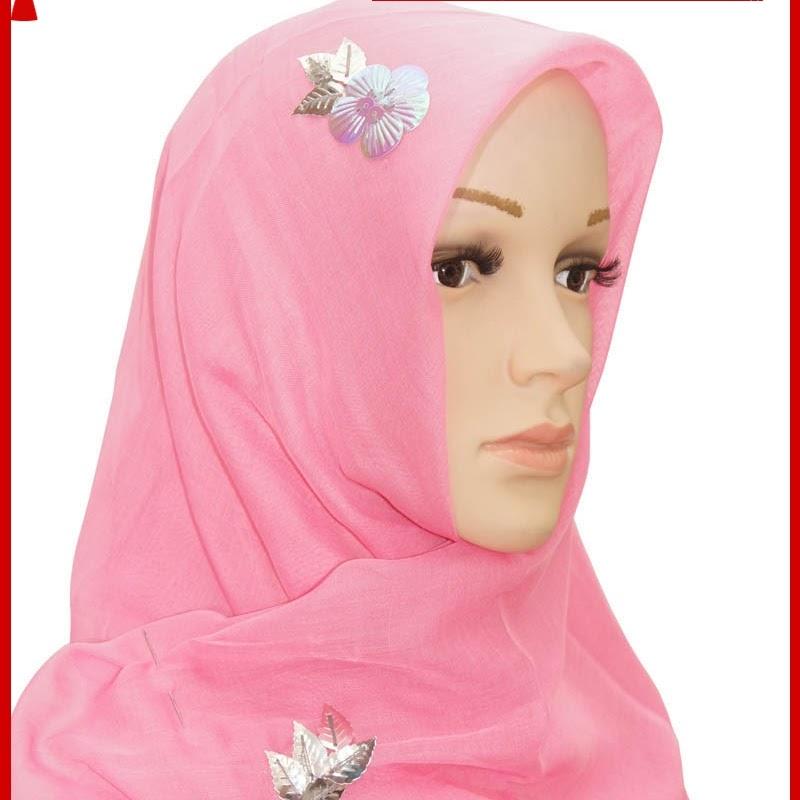 ADR161 Kerudung Wanita Pink Jilbab PY1 Import BMG
