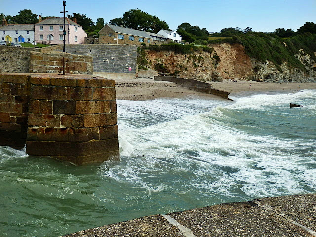 Charlestown harbour, Cornwall entrance