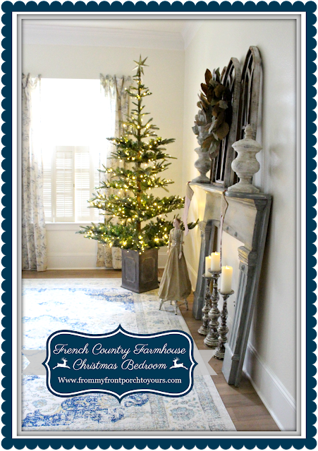 French Country- Farmhouse -Christmas Bedroom-Christmas Tree-From My Front Porch To Yours