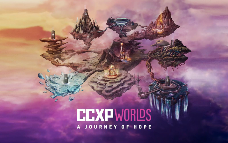 Imagem promocional da CCXP Worlds: A Journey of Hope