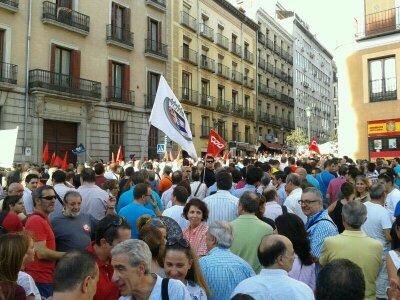 Manifestación de trabajadores de metro contra los recortes