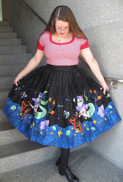 pinup girl clothing mermaid circle skirt