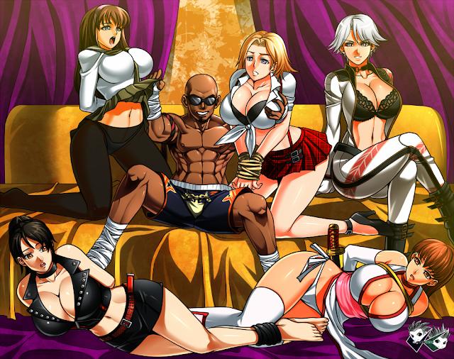 Zack con las chicas de DoA