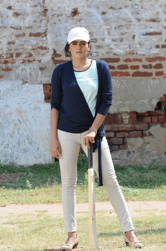 Hot Hebah Patel Playing Cricket Stills From Telugu Movie Angel