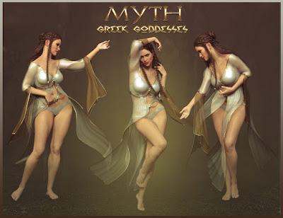 MYTH - Greek Goddesses Poses