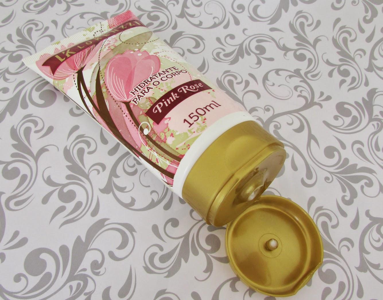Resenha, Hidratante para o corpo, Pink Rose, Lokenzzi