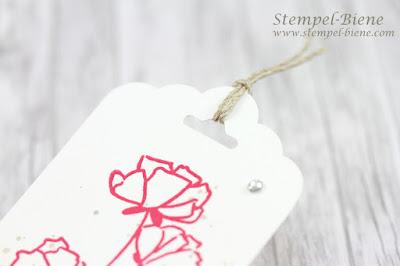Geschenkanhänger für Gastgeschenke; Gastgeschenke Hochzeit; Stampinup, Hochzeitspapeterie; Stampinup tu was du liebst; Stempel-Biene; Hochzeitsideen; Lesezeichen