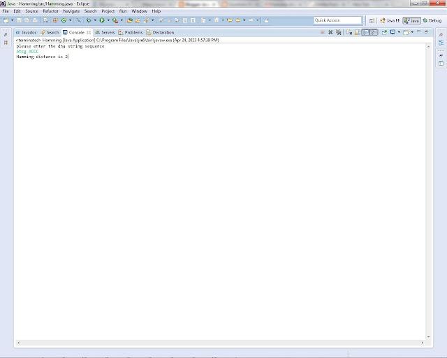 hamming distance java program code