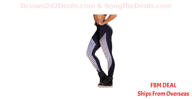 80%  off Star Printed High Elastics Hip-Lift Yoga Workout Pants