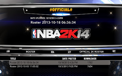NBA 2K14 Roster Update - Oct. 18, 2013