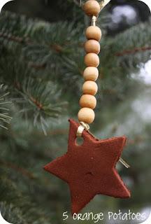 cinnamon-applesauce tree ornaments