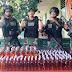 Satgas Pamtas RI-PNG Yonif 411 Kostrad Amankan 228 Botol Miras Ilegal