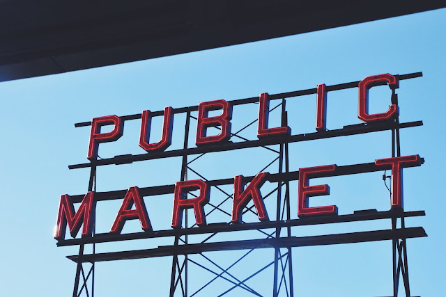 Public Market Sign at Pike Place Market in Seattle