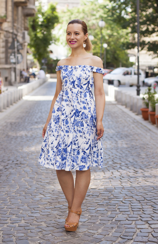 the dress with porcelain print