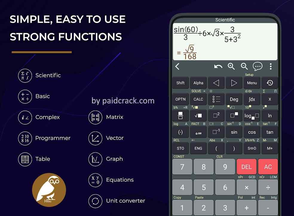 HiEdu Scientific Calculator He-580 Pro Mod Apk 1.1.8 [Paid]