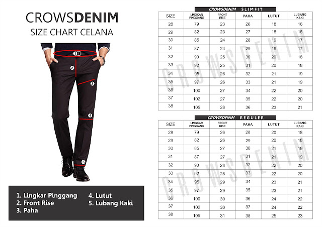 blazer cowok size+chart+celana