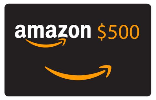 Sorteio de um gift card de $500 USD da Amazon