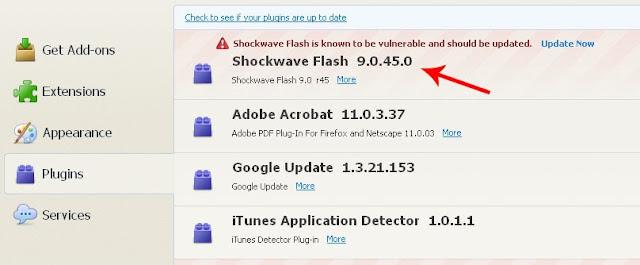 Shockwave Flash 9.0.45.0